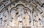Chartres Cathedral; Coronation of the Virgin; tympanum of central portal, north transept.