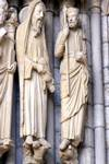 Chartres Cathedral; Samuel, David; left embrasure jamb figures, central portal, north transept.