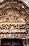 Chartres Cathedral; Christ, angels, apostles; left portal, west facade.