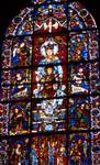 Chartres Cathedral; Mary, Jesus; 'Notre Dame de la Belle Verriere' window, south-east interior.