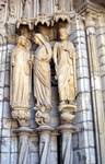 Chartres Cathedral; Mary, Elizabeth, Daniel (Zechariah); right embrasure, left portal, north transept.