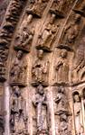 Chartres Cathedral; twenty-four elders of the apocalypse; voussoirs, left side, central portal, west facade.