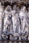 Laon; Abraham, Isaac, Moses (Solomon?), Samuel; left jamb figures of the center portal, west facade.