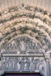 Laon; Last Judgment, Jesus Christ, Virgin Mary, apostles, St. Michael, the elect, the dead, virgins, Abraham, angels, Devil; the archivolts, lintel and tympanum of the south portal, west facade (Last Judgment Portal).