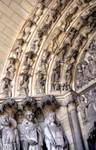 Laon; Last Judgment; left archivolts of the south portal, west facade (Last Judgment Portal).