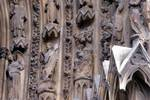 Reims; Jesus Christ, pilgrims, angels, Emmaus, hell, Limbo; archivolts on the right side of the north portal, west facade.