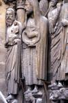 Reims; Simeon, John the Baptist, Isaiah; right jamb figures of the south portal, west facade.