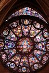 Reims; Jesus Christ, Coronation of the Virgin; Rose Window of the south transept.