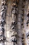 Reims; Book of Revelation, St. John, angels; left side of the archivolts of the south portal, west facade.