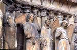 Reims; Helen, Denis, the angel of the smile; left jamb figures of the north portal, west facade.