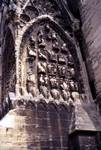 Reims; sculptures on the buttress of the south tower.