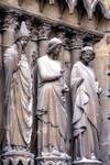 Reims; Calixtus, apostles; left jamb figures of the south portal, west facade.