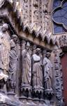 Reims; St. Remi, St. Calixtus, apostles; left jamb figures of the south portal, west facade.