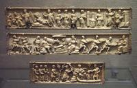Baptism with a River God on the Werden Casket from Milan.