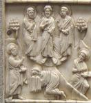 Scenes from the Life of Christ on Italo-Byzantine Ivory Plaque (Middle Left).