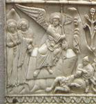 Scenes from the Life of Christ on Italo-Byzantine Ivory Plaque (Bottom Left).