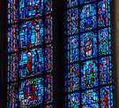 Life of Mary and Tree of Jesse in stained glass.