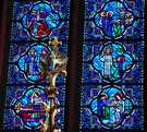Life of Christ in stained glass.