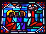 Christ on Gethsemane with Three Apostles Sleeping.