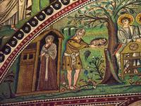 St. Vitale - Abraham and the Three Angels (Detail).
