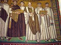 St. Vitale - Emperor Justinian (Detail).