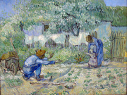 First Steps, after Millet.
