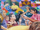 Potluck Mural.  Fichter, David  Click to enter image viewer  Use the Save buttons below to save any of the available image sizes to your computer.