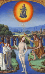 Baptism of Christ.  Colombe, Jean, active 1463-1498  Click to enter image viewer  Use the Save buttons below to save any of the available image sizes to your computer.