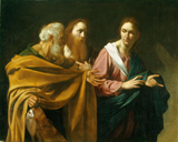 Calling of Saints Peter and Andrew.  Caravaggio, Michelangelo Merisi da, 1573-1610  Click to enter image viewer  Use the Save buttons below to save any of the available image sizes to your computer.