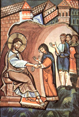 Christ Healing Peter's Mother-in-Law.   Click to enter image viewer  Use the Save buttons below to save any of the available image sizes to your computer.