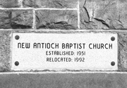 Cornerstone of New Antioch Baptist Church.   Click to enter image viewer  Use the Save buttons below to save any of the available image sizes to your computer.