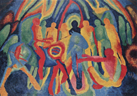 Entry of Christ into Jerusalem.