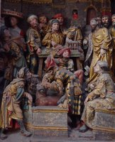 Jesus' cleansing of the Temple.
