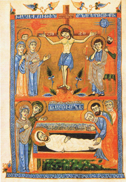 Crucifixion and Lamentation.