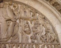 Cathedral of St. Lazare, Autun, France -- Relief sculpture.