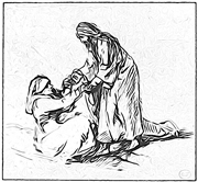 Christ Healing Peter's Mother-in-Law.  Rembrandt Harmenszoon van Rijn, 1606-1669  Click to enter image viewer  Use the Save buttons below to save any of the available image sizes to your computer.