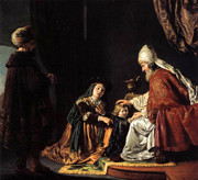 Hannah Giving Her Son Samuel to the Priest.  Victors, Jan, 1619-1676  Click to enter image viewer  Use the Save buttons below to save any of the available image sizes to your computer.