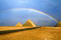 Rainbow Over the Pyramid.