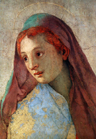 Annunciation to the Virgin Mary (detail).