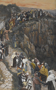 Brow of the Hill Near Nazareth.  Tissot, James Jacques Joseph, 1836-1902  Click to enter image viewer  Use the Save buttons below to save any of the available image sizes to your computer.