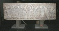 Roman Sarcophagus Frontal; Soldiers Sleeping Beneath the Chi-Rho.