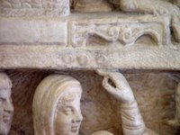 Dogmatic Sarcophagus; Decoration separating registers.