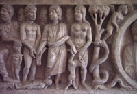 Christ/God Giving Symbols of Work to Adam and Eve.