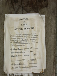 Notice of Sale of Poor Persons.