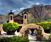 Chimayo Santuario.   Click to enter image viewer  Use the Save buttons below to save any of the available image sizes to your computer.