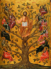 Eastern Orthodox icon of Jesus Christ as the True Vine.   Click to enter image viewer  Use the Save buttons below to save any of the available image sizes to your computer.