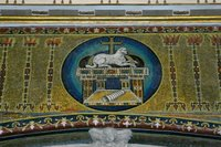 Lamb of God on the Ever-Ready Throne-Basilica of Cosmas and Damien.
