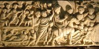 Christ's Entry into Jerusalem [sarcophagus fragment].