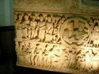Sarcophagus Frontal, left side.