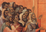 Christ Accused by the Pharisees.  Duccio di Buoninsegna  Click to enter image viewer  Use the Save buttons below to save any of the available image sizes to your computer.